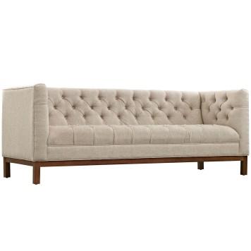 Paramour Beige Fabric Sofa