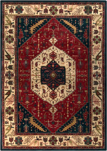 Ancient Treasures Burgundy/Navy Area Rug