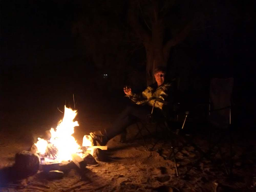 Campfire at Kelso Dunes