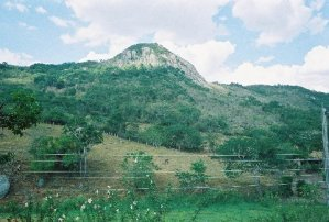 Mountain in Xukuru territory, Brazil