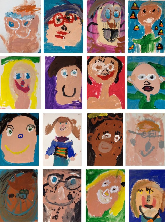 kindergarten self-portraits
