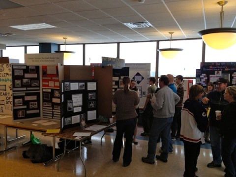 Exhibits at Regional History Day at St. Paul College