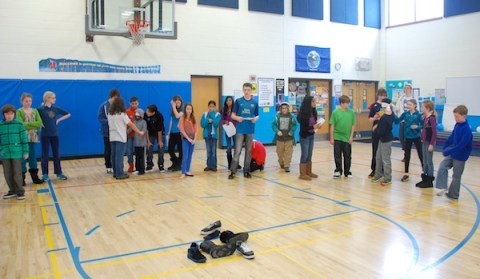 Friends School of Minnesota 8th Graders helped facilitate the middle school Kindness Retreat l