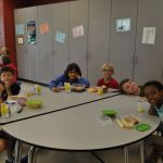 Lunch for first and second grade.