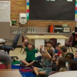 Sally and her first and second graders learn a new song.