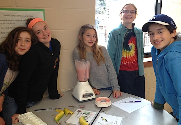 Smoothie making elective with Anna