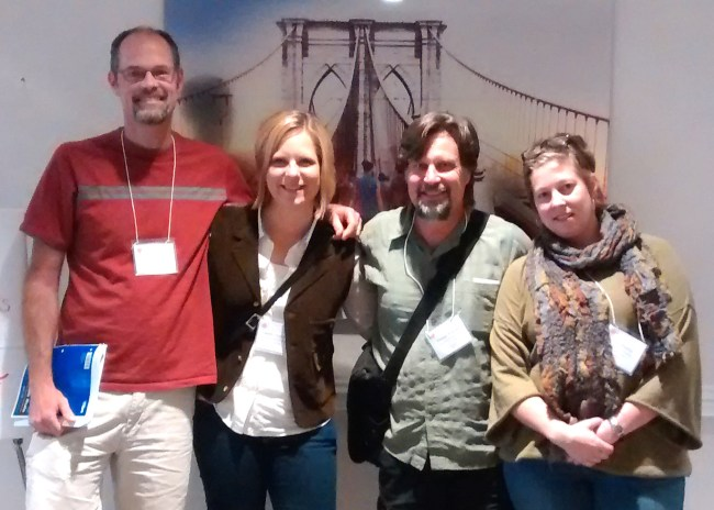 Friends School of Minnesota teachers Andrew, Melissa, Marshall and Laura at the Progressive Education Network's National Conference 2015