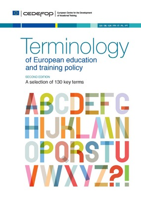 Portada de la publicación Terminology of European education and training policy
