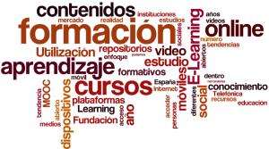 Nuebe de palabras sobre aprendizaje electrónico