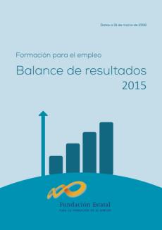 Cubierta de la publicación Balance de resultados 2015