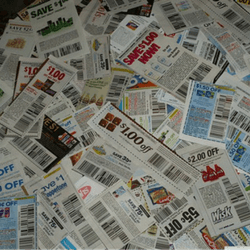 Sell coupon books to raise money.