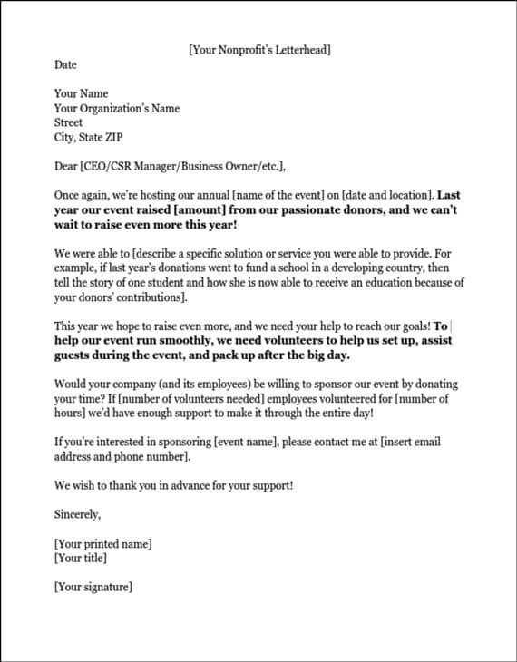 Sports Sponsorship Letter Best Donation Sles Ideas On Fundraising Template And Nonprofit