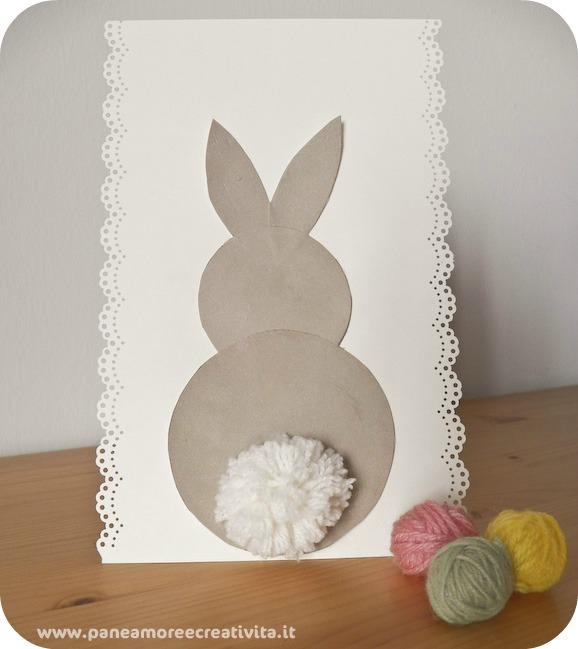 Come Fare Un Biglietto Di Pasqua Con Coniglietto E Pom Pom