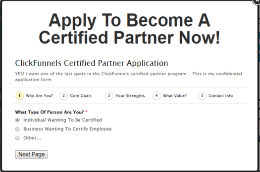 ClickFunnels Certified Partner Application