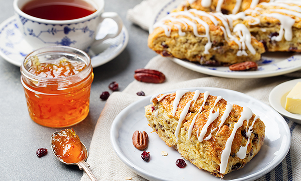 Enjoy Pumpkin Spice Scones with a PSL Pumpkin Spice Tea Latte