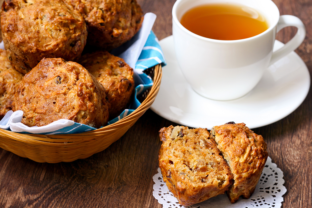 Carrot Cake Muffins Recipe with Rooibos Tea