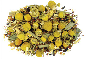 Chamomile Vanilla Bean Herbal Tea for stress relief and relaxation