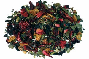Very Berry Guayusa Herbal Tea with Strawberries