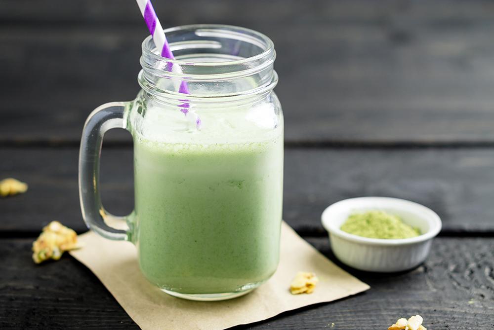 White Chocolate Matcha green tea tea latte and smoothie