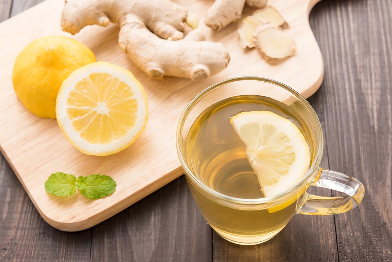 lemon ginger turmeric tea for colds