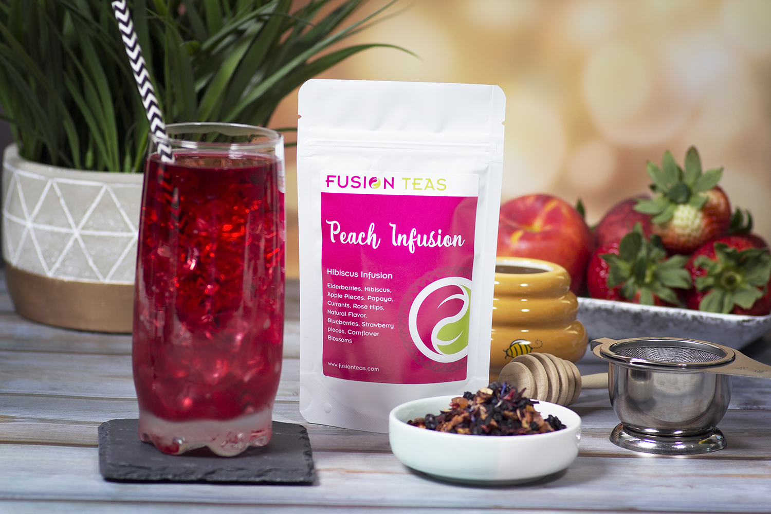 Peach Infusion Hibiscus Fruit Tea