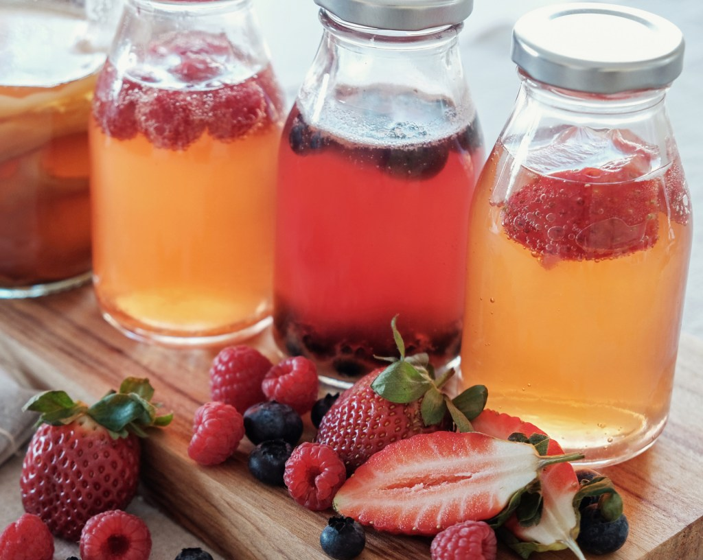 brew kombucha at home as a probiotic drink