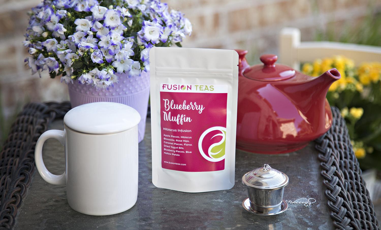 blueberry muffin hibiscus tea