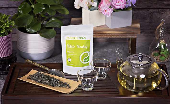 White monkey pure green tea