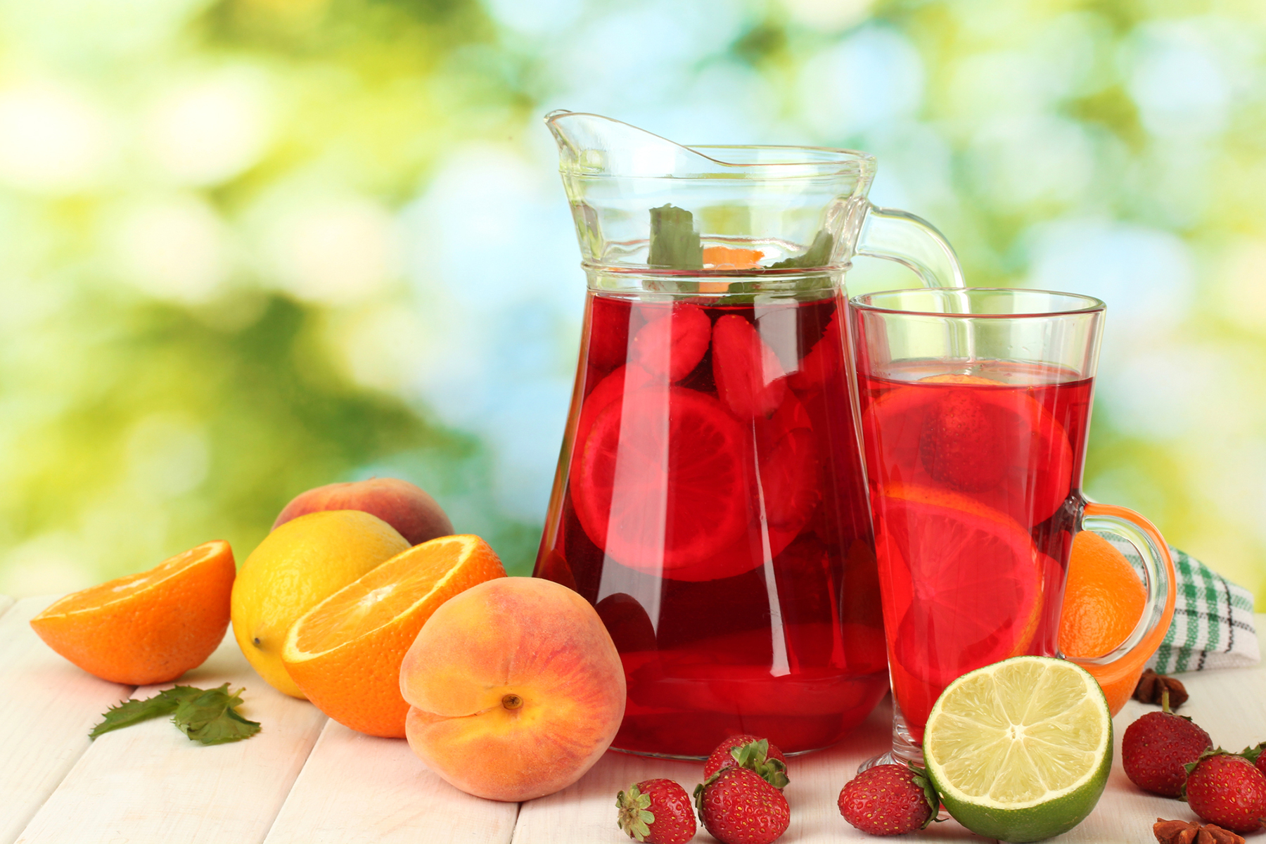fruit iced tea sangria recipe