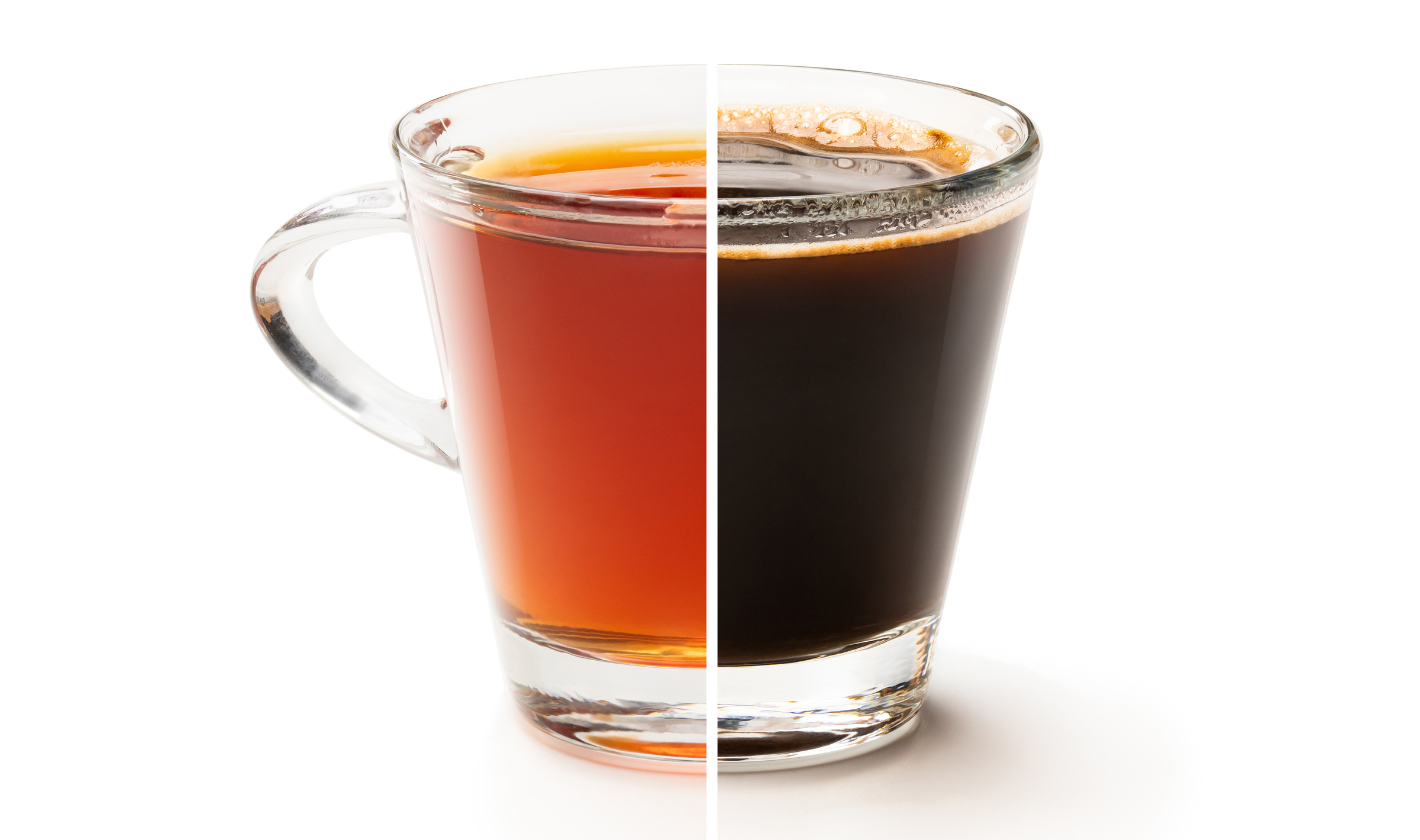 caffeine in coffee versus tea