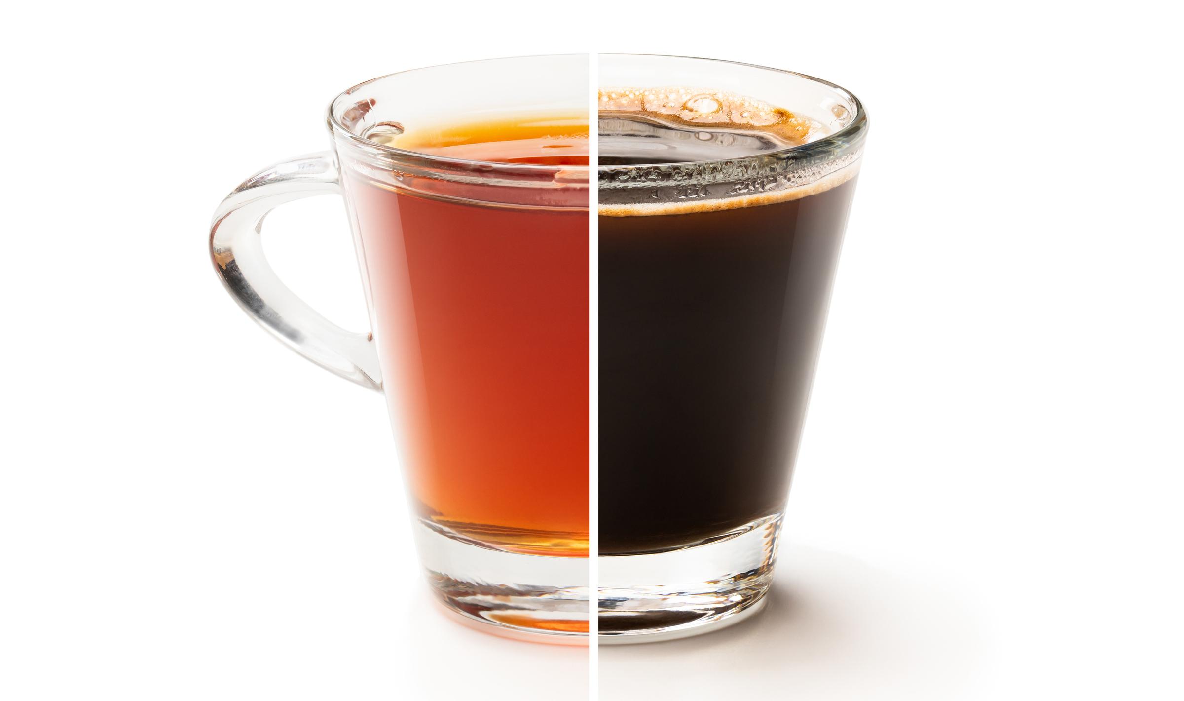 caffeine in coffee versus tea