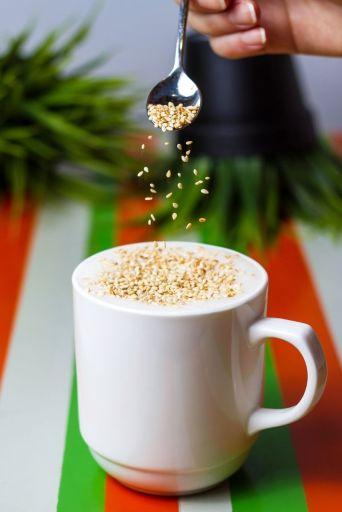 Black Tahini Tea Latte