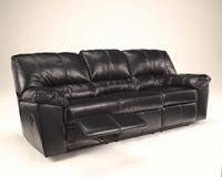 DuraBlend Black Reclining Sofa Signature Design by Ashley Furniture