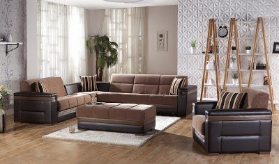 Moon Troya Brown Sectional Set by Sunset