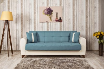 Bella Vista Prusa Blue Convertible Sofa Bed by Casamode