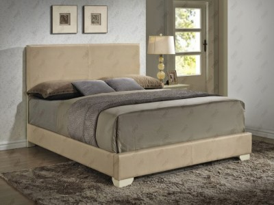 Upholstered Bed Beige by Glory Furniture
