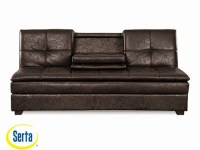 Kingsley Convertible Sofa Midnight Burl by Serta / Lifestyle