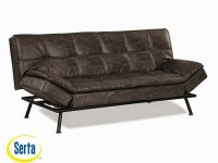Myst Convertible Sofa Charcoal Burl by Serta / Lifestyle