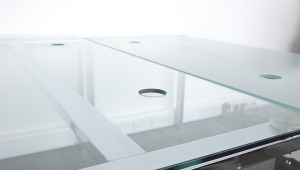 PEDESTAL RECTANGLE GLASS DESK