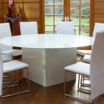 glass cube base dining table