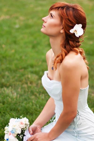 half up bridal hairstyle