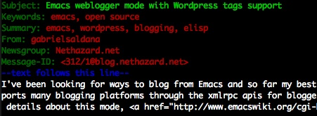Emacs weblogger mode with WordPress tags support