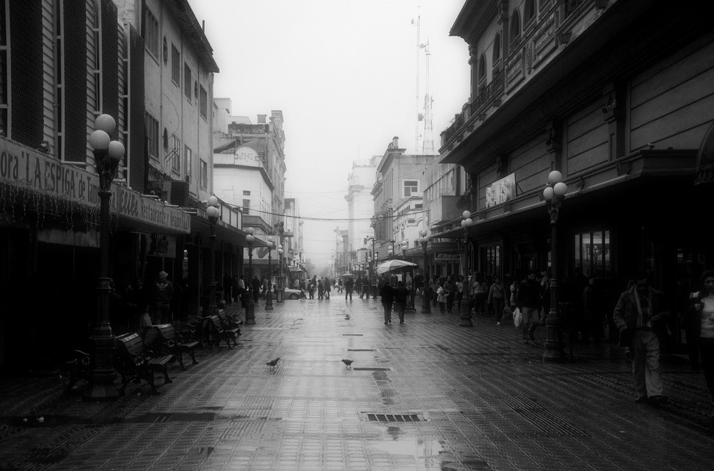 Tampico downtown photowalk in the rain