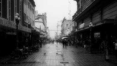 Rainy day in downtown Tampico