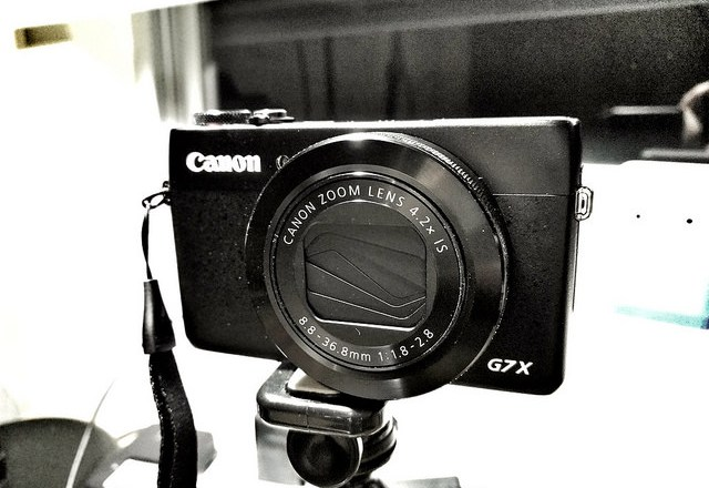 my canon G7x vlogging camera