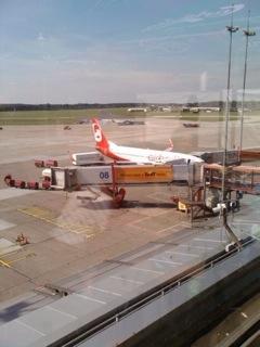 Blick von der Aussichtsterrasse Flughafen Hamburg