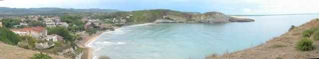 Blick auf die Bucht Santa Catarina di Piturini