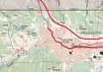 An FSTopo topo map for the Manitou Springs area.