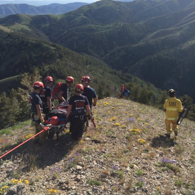 Wood River Fire & Rescue execute a rescue mission using Gaia GPS
