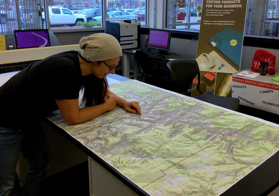 Huge printed map